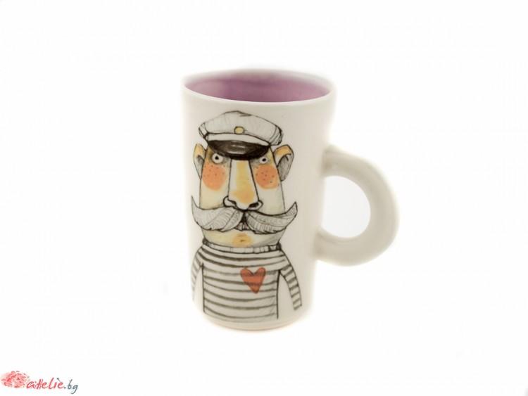 """Ръчно изработена порцеланова чаша """"El Capitan"""""""