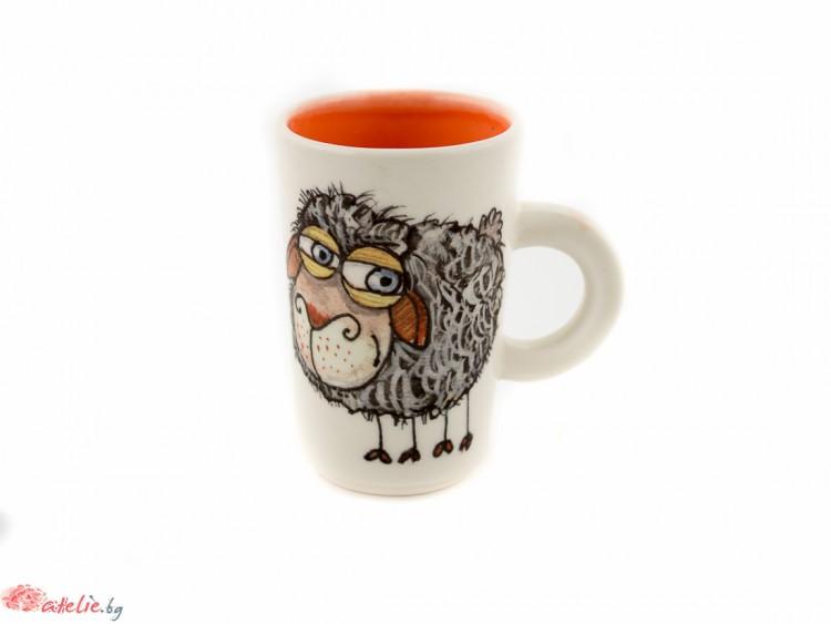"Ръчно изработена порцеланова чаша ""Овца"""
