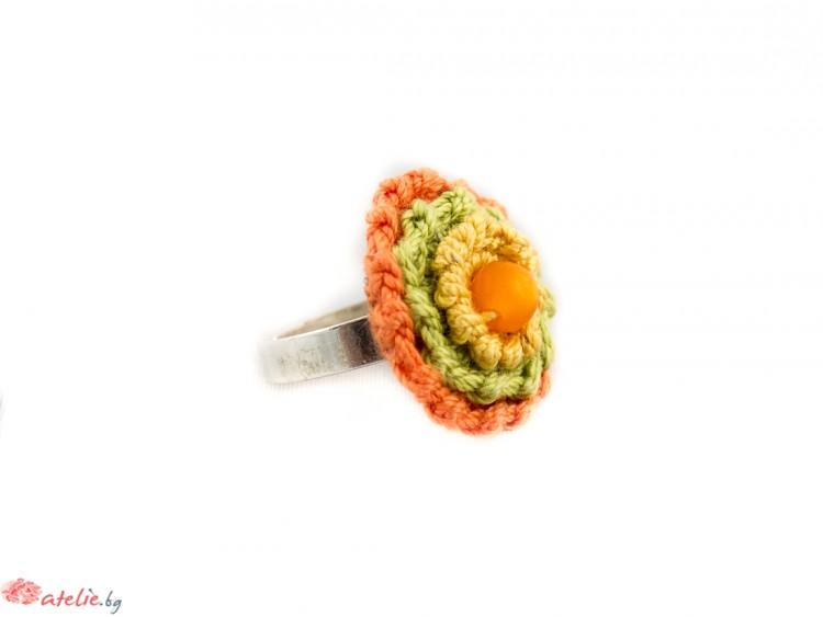 Ръчно изплетен пръстен