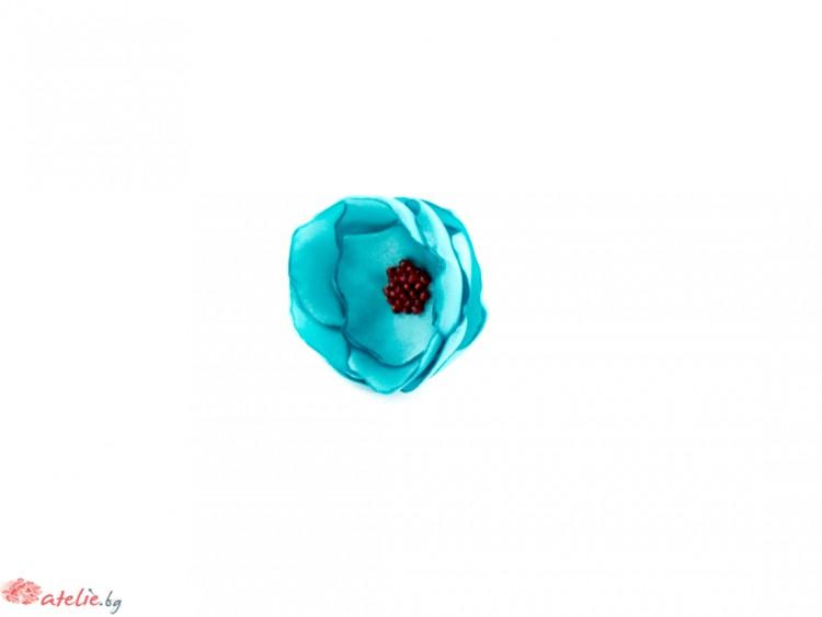 Пръстен цвете в цвят тюркоаз