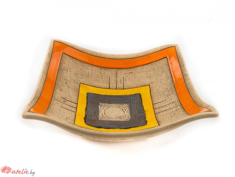Голяма ръчно изработена керамична купа