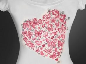 """Ръчно рисувана тениска """"Любов"""""""
