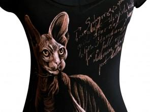 """Ръчно рисувана тениска """"Сфинкс"""""""