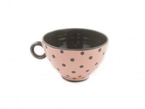 """Малка керамична чаша """"Сиво и Розово"""""""