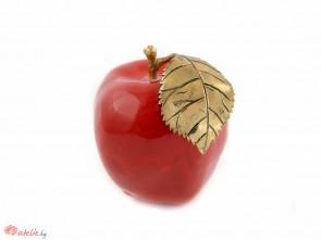 Ръчно изработен керамична червена ябълка