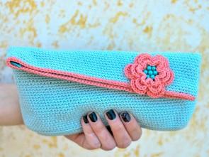 Ръчно изплетено цветно, лятно чанте