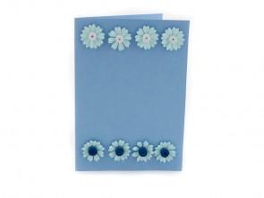 """Малка квилинг картичка """"Цветя"""""""