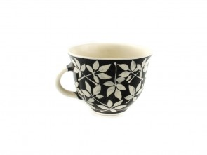 """Малка керамична чаша """"Черно и бяло"""""""