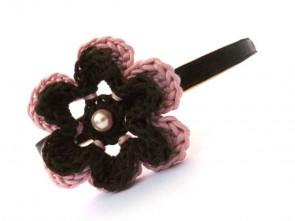 """Ръчно изплетено цвете """"диадема за коса"""""""