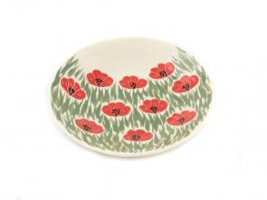 """Керамична чиния за сладки  """"Бяло и зелено"""""""