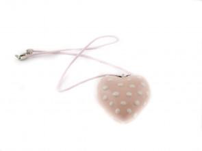 Порцеланово ръчно изработено сърце в розово