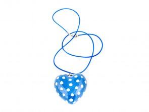 Порцеланово ръчно изработено сърце в светло синьо