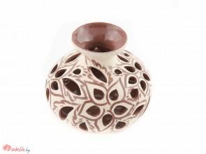 """Ръчно изработена керамична ваза """"Ажур"""""""