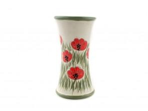 """Керамична ваза за цветя """"Бяло и зелено"""""""
